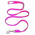 Walk your pup in style with this awesome hot pink dog leash. (matching collar available) Nylon leash with 2 inch swivel snap - Hamilton-strong hardware. Multiple sizes for any size dog.