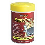 The ReptoTreat Suprema Reptile Food by Tetra is a great alternative food for your reptile. Safe, easy to administer and contains lots of shrimp and krill. Very palatable and nutritious to supplement your pet's diet. Size is 1.8 oz.