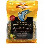 With quiko egg food crumbles and spirulia, this food is designed to meet the high energy and protein needs of parakeets. Nutrient rich fortified vita bite crumbles add vitamins and minerals not normally found in a straight seed diet. Promotes colorful fea
