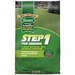 Scotts Lawn Pro Step 1 for Seeding Starter Fertilizer Plus Crabgrass Preventer allows early season grass seeding while preventing crabgrass growth. It won't burn lawn – even new seedlings. Size: 5,000 sq. ft. coverage.