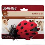 Hours of feline fun on four wheels. Made with recycled fiberfill. Ladybug measures 3
