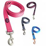 Hamilton Pet Company's durable webbed nylon dog leashes with swivel snaps are tough and attractive in these new colors. They're available in four different shades to make your pet stand out on his daily walk.