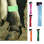 Quick on leg bands for Livestock - washable and reusable. Velcro washable bands for identification of cattle. Pack of 10. Washable. Available in: Neon Green,Neon Orange, Neon Pink, Neon Yellow, Yellow,Red,Blue,Orange, & Green
