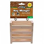 Made of natural dye-free wood. Easily clips on to your pet s cage providing him/her with a fresh source of hay. Ideal for dwarf rabbits, guinea pigs and other small animals.