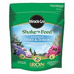 Scotts, 8 LB, Shake & Feed For Flowering Trees & Shrubs, Delivers Essential Nutrients To Promote Growth & Maintain Green Foliage & Bright Colorful Blooms In Flowering Trees & Shrubs Including Acid Loving Plants, Throughout The Season, Enriched With 2% Iro