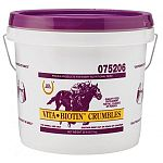 VITA Biotin Crumbles for horses by Farnam gives your horse the required Biotin that it needs to help keep hooves healthy and also helps your horse to metabolize carbohydrates, fats and proteins in their body. Great for all horses including pregnant mares.