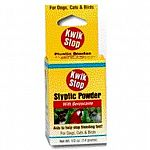 Kwik Stop powder is an aid to stop bleeding caused by clipping nails, docking tails and trimming beaks and minor cuts. Use on dogs, cats and birds. Do not use on deep wounds, body cavities or on burns.