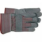 Split leather palm glove for hand protection . Leather.
