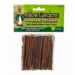 Pretzel Sticks are 100% natural willow chew treats, offering a flavorful snack for rabbits, guinea pigs, chinchillas, pet rats, hamsters, and gerbils. They are a perfect treat for hand feeding to pets who love wood chews to help trim teeth.