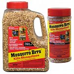Mosquito Bits kill fast - within 24 hours - before mosquitoes are old enough to bite. Quick Kill large mosquito populations. Environmentally sound biological mosquito control.  Available in 8 oz. and 30 oz. containers.