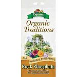 Organic Traditions Rock Phosphate consists of a natural rock mined from phosphorus-rich deposits. The rock is washed free of clay impurities and heated to remove moisture. This pure, mined phosphate rock contains 32% total phosphate.