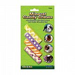Keep your bunny busy with this assortment of mineral candy chews that contains four pieces in one pack. A great alternative for boredom chewing and trims and cleans teeth at the same time! A safe and practical chewing activity for your rabbit.