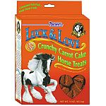 These crunchy treats, Luck and Love Carrot Cake Treats, are made with nutritious carrots, apples and raisins and oven baked, which makes them crunchy. Your horse will enjoy these fiber-rich treats. Also, fortified with vitamins A and E for better health.