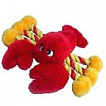 The Plush Lobster Dog Toy by GCI is available in two sizes, medium (8 inches) and large (19 inches). Great for medium or large sized dogs, this toy is made of soft plush and has rope legs. This fun lobster will keep your pooch happy for hours!