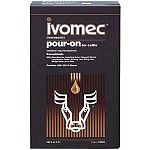 Ivomec pour-on provides proven, broad-spectrum control of lice, worms and horn flies. Dosage: 1 ml per 22 lbs. body weight. Rain fast after 6 hours.