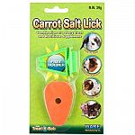 The Carrot Salt Lick with Holder provides your small animal pet with healthy alternative to chewing on other household items. Essential for keeping teeth trim and fighting boredom, this salt spool is shaped into a fun carrot shape and has flavor.