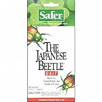 Replacement bait for safer japanese beetle trap, containing a food and sex attractant to lure insects into the . Controlled release system maximizes the life of the attractant. Contains 2 bags. Peel the protective {marked peel } from the saf