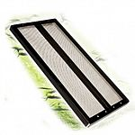 Reptile cover screen with metal center hinge - Black / 36x12.