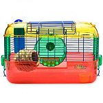 CritterTrail Primary Home by Super Pet is especially designed for hamsters, gerbils and mice and makes the ideal starter home for your little pet. This fun and expandable home comes with a 10 oz. Water Bottle, Food Dish and Bubble Wave Exercise Wheel.