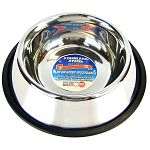 Durable stainless steel pet bowl for cats or dogs with a mirror finish that protects against rusting, cracking or pitting. Dishwasher-safe.  Multiple Sizes.  Lifetime Manufacturers Guarantee. Non-tip design saves from mess on the floor.