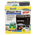 The Whisper PF10 Power Filter is one of the best-selling brands of filters in the US. This filter provides three types of filtration that your aquarium requires: Mechanical, Biological and Chemical filtration. Easy to use and maintain to keep your water c