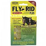 Fly Rid Plus Spot-On for Horses kills and helps to repel flies, gnats, mosquitoes and ticks on your horse. One dose lasts up to 14 days. For use on horses only. Provides protection all day and night and is water and sweat resistant. Easy to apply.