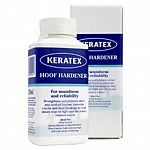 Keratex hoof hardener strengthens, hardens and protects cracked, chipped, weak, and splitting hooves. Keratex Hoof Hardener strengthens weak, worn and cracked hooves by improving the molecular structure.