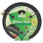 Colorite Swan Premium Soaker Hose saves up to 70% of precious, costly water and is manufactured of 65% recycled rubber; now that's earth friendly! Patented water restrictor controls pressure, preventing soil erosion and puddling