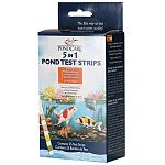 The new Pond Care 5-In-1 Dip Strips provide distinct variations between colors on the color charts for Easy-To-Read results. No separate test vial require- dip strip directly into the pond