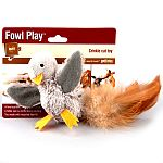 Lifelike in size and instinctively exciting for your cat. Made with recycled fiberfill. Meeting your cat's need to hunt, the Fowl Play is a satisfying and fun substitute for your cat.