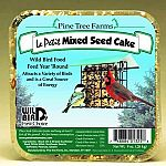 The Le Petit Mixed Seed by Pine Tree Farms is a seed cake made for a variety of wild birds for feeding all thoughout the year. Provides birds with a great energy and source and nutritional diet. Hang in suet/seed cake feeder that is 5 feet from the ground