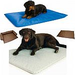 Perfect for anytime of the year, this cooling dog bed by K and H is specifically designed to cool your dog. Ideal for dogs who have thicker coats or for use during warm days. Bed does not use electricity, only water! Bed & Sheets sold separately.