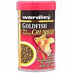 Uniquely shaped nutritionally balanced food. Maintain good growth, health, and color for your goldfish with Wardley Goldfish Crumbles. These slowly sinking, highly palatable pellets let your fish feed at the level they prefer.