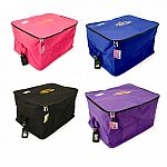 Equestria Sport Blanket Bag is the ideal bag for stowing riding gear in a truck or trailer. Great storage container for horse and saddle blankets, fly sheets and most types of saddle pads during the on and off seasons. Made of durable, brightly-colored ny