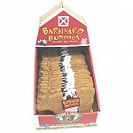 Display contains: 18 each barnyard buddies cow biscuits in beef and oat flavor.