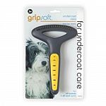 The special design protects your pet's sensitive skin while allowing you to quickly comb through the unseen healthy hair and remove the shedding hair. Easy-to-grip curved handle. Won't disturb your dog's outer coat.
