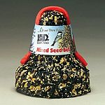 This Mixed Seed Bell by Pine Tree Farms comes in a colorful net to attract various kinds of birds to your backyard. The seed bell is easy to use and is packaged to be hung easily in a tree, shrub or on a post. Made of a variety of high quality seeds.