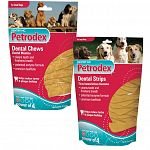Petrodex combines the real beefhide chews that dogs love, with a dual enzyme formula to kill the bacteria that cause plaque and tartar.