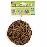 This willow branch ball is fun for a variety of small animal pets to play with for hours. Ball is available in two sizes: 1.5 in. and 4 in. Safe for small animals to chew and very entertaining. Helps fight boredom and great for interactive play.