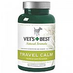 Calming Dog Treats. Keep your dog calm while traveling by using this calming supplement by Vets Best. Made with natural ingredients including ginger and valerian root to naturally calm your dog. Bottle contains 40 chewable tablets.