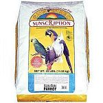 Fun, vitamin enriched sunflower based mix including bananas, raisins, papaya, almonds, celery and bits of cuttlebone. Colorful sun, moon and star shaped cookies add a unique treat. Ideal for cockatoos, macaws and parrots.