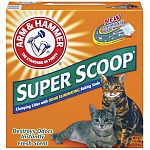 No matter how many cats you have you ll love the outstandingodor control and convenience of arm hammer super scoop. Super scoop cat litter is a freshly scented litter with no crumbling clumps hard and fast to lock in odors on contact.