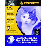 Reduce litter box odor with these specially developed activated charcoal air filters. Filters by Petmate fit into grill inserts on specially designed litter box hoods. Available in two sizes