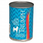 Triumph Natural Canned Dog Food offers your dog quality ingredients and no by products, no artificial colors, preservatives or added sugars. This meat based food will satisfy your dogs natural carnivorus instincts and provide balanced protein, fats, carbo