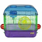 Ideal starter home for your new small pet. Comes with a water bottle and exercise wheel. Multiple attachment ports for adding tubes and accessories so you can expand your habitat as your pet grows. Ideal for mice, dwarf hamsters, hamsters and gerbils. 6mm