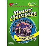 Yummy Chummies Salmon Dog Treat - Crunchy - Dogs go absolutely crazy for these salmon treats and your dog will too! We guarantee that your pet will love Yummy Chummies. Manufactured in Alaska, using Alaskan Salmon. 4 oz.