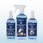 Safe and gentle for cleaning wounds on a variety of pets including horses, dogs, cats, and birds, this pump is convenient to use and kills a variety of bacteria to prevent infections in wounds, ulcers, and minor cuts. Size is 8 oz.