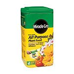 Miracle Gro All Purpose Plant Food is a water soluble formula that is perfect for all types of plantlife, including houseplants, outdoor plants, vegetables, trees and shrubs. America's favorite plant food helps your plants grow bigger and more lush with