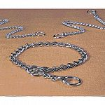 These choke chains are guaranteed not to rust or break because they're made from top quality rustproof chain. Smooth chrome plating allow instant release. The links are electronically welded for strength.