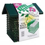 This attractive and durable suet feeder by C and S is perfect for holding 1 brick of suet or 4 suet cakes. Easy to fill and maintain, makes the chore of filling the feeder a breeze! Has a full steel roof, a bottom door with 2 closures and a chain hanger.